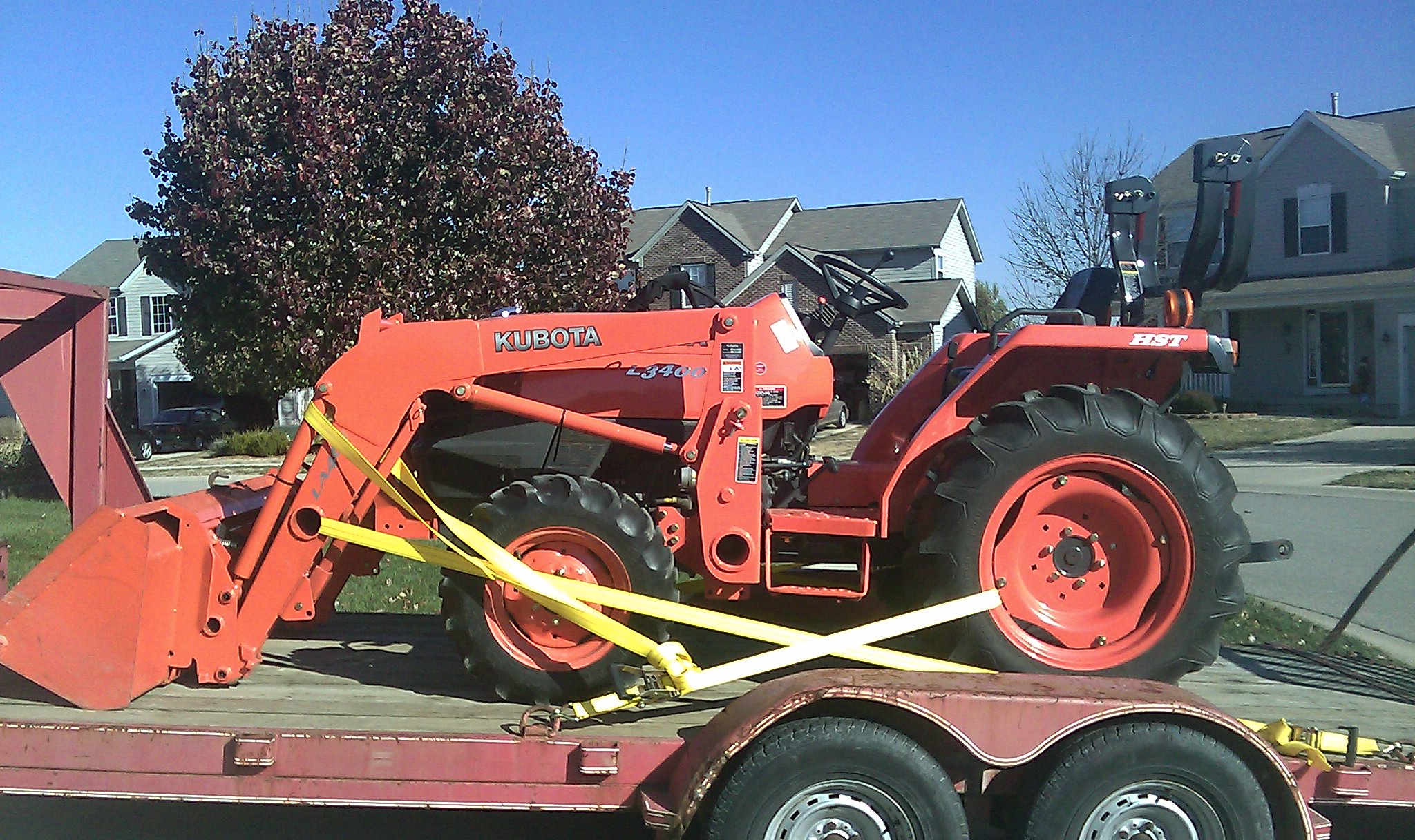 Kubota L3400 HST with Loader (Length of trailer needed
